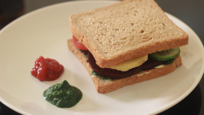 Vegetable Sandwich Recipe | Quick Breakfast