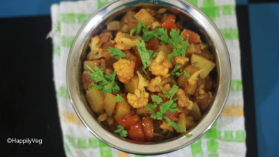 Aloo Gobi Recipe, North Indian Style Aloo Gobi Dry