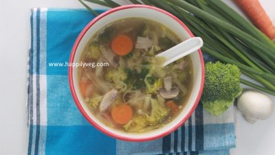 Vegetable Clear Soup Recipe, Easy Veg Clear Soup