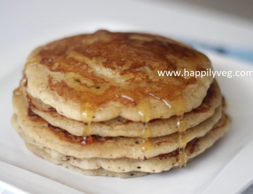 Eggless Pancakes Recipe, How to make Eggless Pancakes